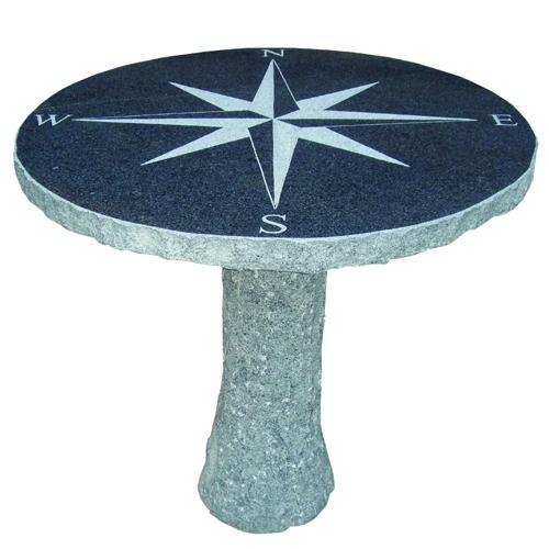 Granit tisch kompass 325 00 tara teich und garten for Tisch aus granit